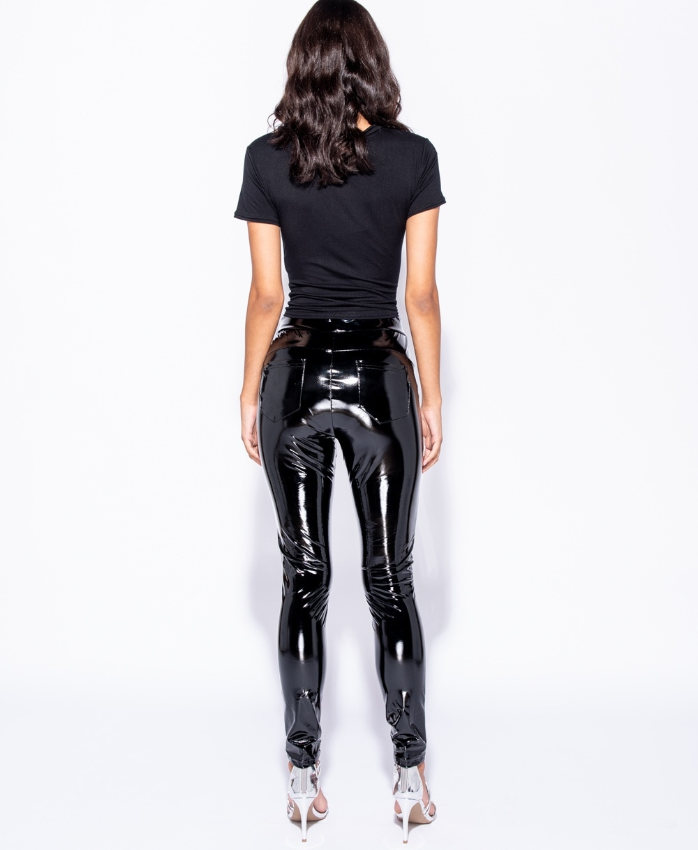 866685c13a1e8 High Shine Vinyl High Waisted Jegging Trousers - Clothing from ...